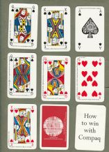 Collectable Advertising playing cards. Compaq computer